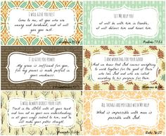 "Enjoy these FREE printables from P31 Online Bible Studies taken from Chapter 12 of our current study ""A Confident Heart"" by Renee Swope.   Set 1"