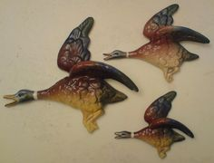 South African Porcelain - Lucia Ware BEP boxburg east pottery South african FLYING DUCKS for the wall like Beswick - set of 3 was sold for R1,070.00 on 17 Aug at 07:01 by Designcrazy in Cape Town (ID:15009822)