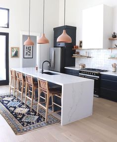 home design Make your kitchen more functional and more beautiful, too with the help of these nine clever Ikea hacks. From cool new cabinet fronts to savvy DIY kitchen islands, its easy to enhance your homes design on a budget with these smart ideas. Home Decor Kitchen, New Kitchen, Interior Design Living Room, Kitchen Ideas, Kitchen Trends, Kitchen Planning, Kitchen With Living Room, Awesome Kitchen, Beautiful Kitchen