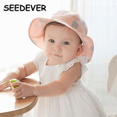 72debb46018256 Aliexpress.com : Buy Spring Cap Girls Hats Cotton Children's Hats Infant  Baby Girl Sun Hat Summer Shading Basin Chapeau Enfant Girl's Dot Kids Hats  from ...