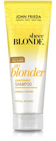 New favorite shampoo - It really makes my blonde hair shine!  Never looks dull or fading when using this!!  In fact, it actually does lighten it (as the product claims) & smells divine :)