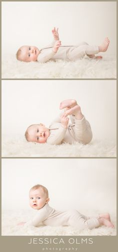August | 6 Months  Baby boy pictures - rollover