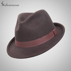 England Style Christmas Fedora Jazz Hat Men Women 100% Wool Female Male Trilby Cap Hats with ribbon Great, huh? #shop #beauty #Woman's fashion #Products #Hat