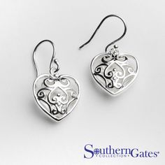 Rounded Heart Earrings from #southerngates