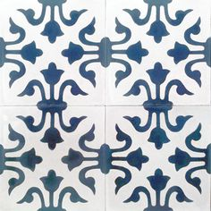 Floral Spanish design, ,Hydraulic Authentic Andalusian Tiles for both the floor and wall. MOD-154