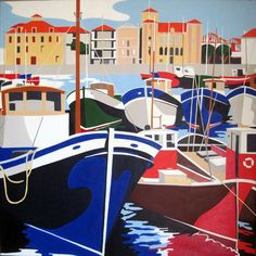 City Illustration, Landscape Illustration, Cartoon Background, Poster Prints, Art Prints, Basque Country, Surf Art, Vintage Travel Posters, Map Art