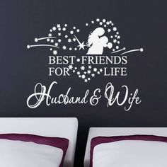 Best Friends Husband & Wife Wall Decal