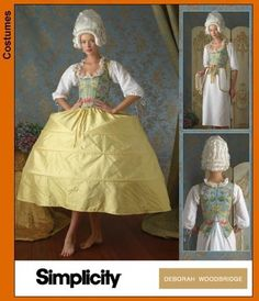 Simplicity 3635, 3736 - Marie Antoinette 18 Century Colonial Rococo Costume Pattern 16-24. $16.00, via Etsy.