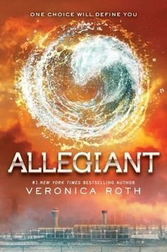 Allegiant (Divergent 3) by Veronica Roth.  The faction-based society that Tris Prior once believed in is shattered—fractured by violence and power struggles and scarred by loss and betrayal. So when offered a chance to explore the world past the limits she's known, Tris is ready. Perhaps beyond the fence, she and Tobias will find a simple new life together, free from complicated lies, tangled loyalties, and painful memories.