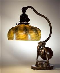 Balanced Lamp. Shell design, dome shape - Louis Comfort Tiffany Antique Lamps, Vintage Lamps, Vintage Furniture, Louis Comfort Tiffany, The Old Curiosity Shop, Asian Design, Tiffany Lamps, Cool Lighting, Lighting Ideas
