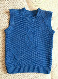 Kamizelka Knitting For Kids, Baby Knitting, Lace Knitting Patterns, Boys Sweaters, Boys Wear, Polar Fleece, Knit Fashion, Baby Boy, How To Wear