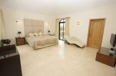 Quinta do Lago Villa Master Bedroom with Dressing Room and En-suite via http://www.quintadolagoluxuryvilla.com