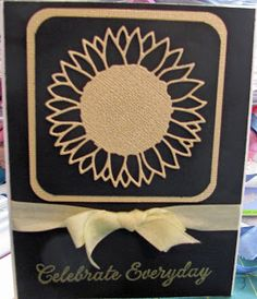 Wild Sunflower die cut from Memory Box.