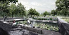 Blick_in_die_Wassergärten, © geskes.hack Landschaftsarchitekten, VIC Brücken und Ingenieurbau, Kolb Ripke Architekten