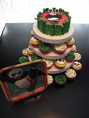 Kung Fu Panda Cake & Cupcakes