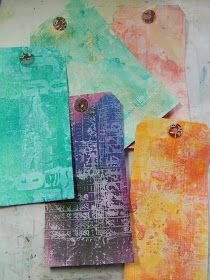 Tutorial: Stamping with Gesso and using various coloring mediums by Christy Butters. Nice distressed look of stamp image using the gesso instead of an inkpad. Distress Ink Techniques, Art Journal Techniques, Card Making Techniques, Embossing Techniques, Mixed Media Tutorials, Art Tutorials, Art Journal Pages, Art Journals, Collages