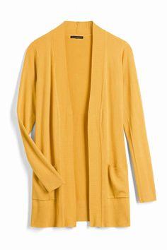 Stitch Fix Mustard Yellow Open Cardigan Sweater