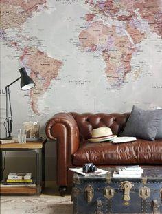 Arredare con le mappe geografiche - La Figurina