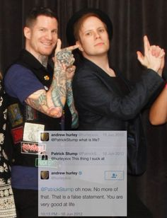 Andy and patrick, awwwwww I love them