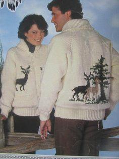 SeeSallySew.com - Deer Reindeer Sweater Knit Patons Chieftain Knitting Pattern 1022 Adult Sz. 34 - 44 , $8.00 (http://stores.seesallysew.com/deer-reindeer-sweater-knit-patons-chieftain-knitting-pattern-1022-adult-sz-34-44/)