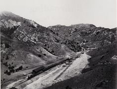 Newhall Pass in 1880, before construction of roadways. The pass has changed greatly since then.