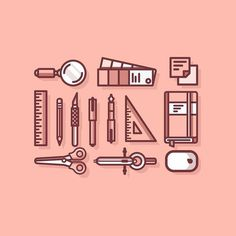 from @whitehotmonkey -  Working on some icons. Trying to keep to 2 colours.  Thanks to @graphicgang for the feature. Give em a follow they show some inspirational work. #vector #graphicdesign #visforvector #marketing #thedesigntip #iconaday #illustration #logoplace #graphicgang #dribbble #logo #icon #logoplace #illustrator #logoshare #office #pens #graphicdesigncentral #gfxmob #minimal #digitaldesign #graphicroozane #instavector  #map #simplycooldesign #flatdesign #pantone #digitaldesign…
