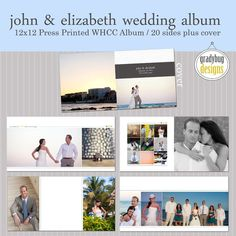 cute wedding album..love the 3 hearts accent with the line