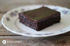 Brownies mit fudge-Glasur
