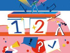 Eurovision Songfestival Illustrations by Jasmijn Solange Evans Evans, Symbols, Letters, Illustrations, Art, Art Background, Illustration, Kunst, Letter
