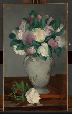 Peonias, de Edouard Manet 1864-1865 Oleo sobre lienzo (59,4 X 35,2 cm)
