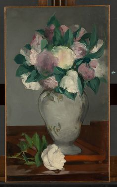 Édouard Manet (French, 1832–1883). Peonies, 1864–65. The Metropolitan Museum of Art, New York. Bequest of Joan Whitney Payson, 1975 (1976.201.16) #spring