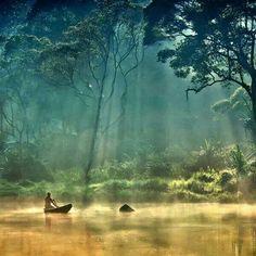 Het Nationaal Park Gunung Leuser op Sumatra, Indonesië.