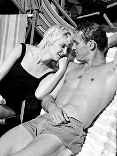 Paul Newman and Joanne Woodward in Jerusalem during the filming of Exodus, 1959