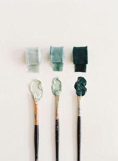 Trio of sea green shades for a color palette Colour Pallete, Colour Schemes, Color Combinations, Color Palettes, Color Trends, Graphisches Design, Floral Design, Graphic Design, Colour Board
