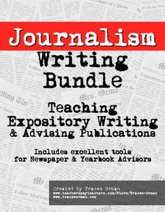 Journalism Writing and Publications Planning Bundle #jteacher #yerd