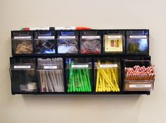 Great way for teachers, childcare, writers, and office mates to get organized using a simple plastic hardware caddy. getting-organized