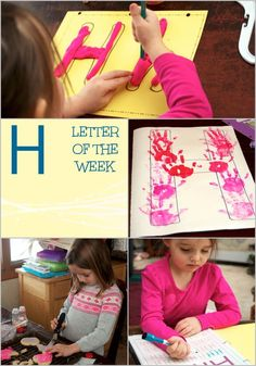 Are you a homeschooler looking for letter H crafts for preschool? This post features ideas, crafts, and activities all about the Letter H! Spelling Activities, Preschool Letters, Hands On Activities, Infant Activities, Writing Activities, Preschool Activities, Alphabet Activities, Homeschool Preschool Curriculum, Art Curriculum