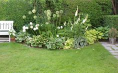 Trädgårdstid Green Garden, Shade Garden, Indoor Garden, Outdoor Gardens, Garden Gadgets, Front Gardens, Woodland Garden, Chelsea Flower Show, White Gardens
