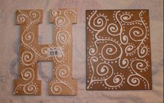 DIY Antiqued Foil Monograms – Something to be Savored Tin Foil Art, Aluminum Foil Art, Diy Letters, Letter A Crafts, Wood Letters, Letter Art, Hobbies And Crafts, Diy And Crafts, Arts And Crafts