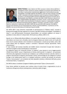 Profilo della prof.ssa Esther Fenizia Galdo