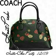 "HPCOACH LARGE FLORAL CORA DOME SATCHEL Coach Large Floral Printed coated canvas dome bag. Inside zip pocket Zip-closure, fabric lining Handles with 4 3/4"" drop Longer, detachable strap with 21 1/2"" drop for use as crossbody or shoulder wear. Measures 12 1/2""x 9""x 5 1/2"" 100% Authentic Brand New Still Packaged! Coach Bags Satchels"