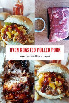 Delectable Oven-Roasted Pulled Pork Oven Roasted Pulled Pork, Pulled Pork Roast, Pork Roast In Oven, Smoked Pulled Pork, Rib Recipes, Pork Chop Recipes, Cooking Recipes, Pulled Pork Tenderloin Recipe, Pork Chops