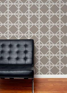 Asian Trellis - Taupe Wallpaper by Aimee Wilder at ProjectDecor.com