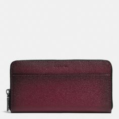 COACH Accordion Wallet In Burnished Crossgrain Leather. #coach #bags #leather #wallet #accessories #