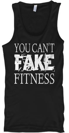 2c30d462ab6859 You Can t Fake Fitness Black Tank Top Front