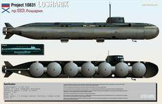 Глубоководная атомная подводная лодка спецназначения АС-31 «Лошарик». Инфографика » Военное обозрение