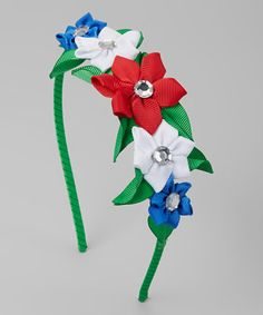 Red & Green Floral Headband