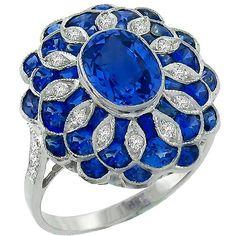 1.96ct_Sapphire_0.50ct_Diamond_Ring | New York Estate Jewelry | Israel Rose