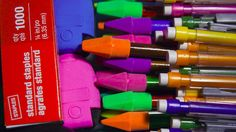 Half-filled notebooks, pencil stubs, and broken crayons—when school's over, kids come home with too much stuff. If you can't reuse these school supplies, consider donating them to a good cause.