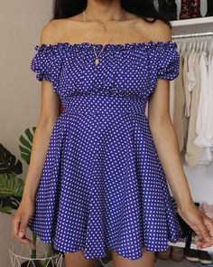 Newest Photo sewing dresses videos Ideas Sewing tutorial: DIY ruffle off the shoulder dress with this polka dot fabric! Sewing pattern for Fashion Sewing, Diy Fashion, Ideias Fashion, Fashion Outfits, Casual Outfits, Dress Sewing Tutorials, Dress Sewing Patterns, Fabric Sewing, Pattern Sewing